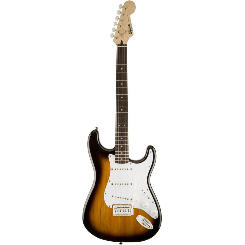 گیتار الکتریک فندر مدل Squier Bullet Strat with Tremolo Brown Sunburst